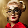 Beautiful lady in carnival mask — Stock Photo #6229173