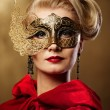 Beautiful lady in carnival mask — Stock Photo #6229175