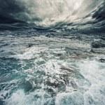 tempestade do oceano — Foto Stock