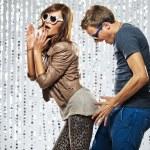 Young stylish couple flirting in the nightclub — Stock Photo #6229853