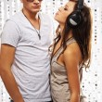 Stylish couple in the nightclub — Stock Photo