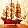 Beautiful vintage ship model - Stock Photo