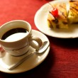 Coffee cup with cakes — ストック写真