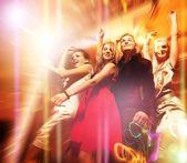 Tańczy w nocnym klubie — Zdjęcie stockowe