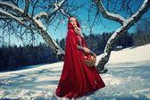 Red hood — Stock Photo