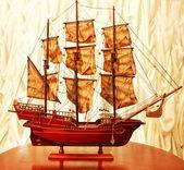 Beautiful vintage ship model — Stock Photo