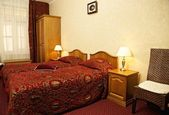 Hotel double room — Stock Photo