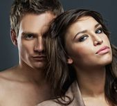 有吸引力的性感夫妇 — 图库照片