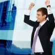 Young happy businessman — Stock Photo #6255423