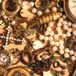 Many vintage things and jewelry — Stock Photo