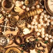 Many vintage things and jewelry — Stok fotoğraf