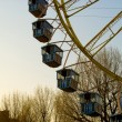 图库照片: Big observation wheel with gondolas