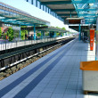 Land metro station in a city — Stock Photo