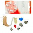 Hearing aid and batteries - Stock Photo