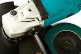 磨车和磨料的磁盘 — 图库照片