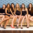 Group of  beautiful models — Stock Photo