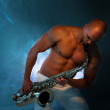 Man playing sax — Stock Photo