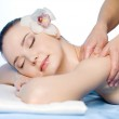 Massage for shoulder of woman — Stock Photo