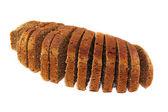 Black sliced bread — Stock Photo