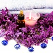 Spa with lilac — Stock Photo