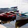 Boats coasted at the sea coast — Stock Photo