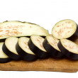 Sliced aubergine — Stock Photo