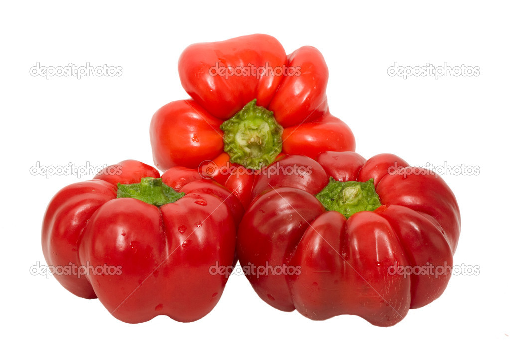 Big red paprika isolated on white background — Stock Photo #6455867