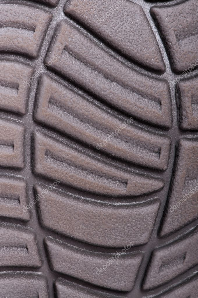 Dark sole of boot for backgrounds or textures — Stock Photo #5439502
