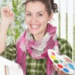 Female painter — Stock Photo #5584780