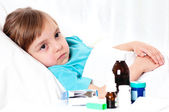 Sick girl — Stock Photo