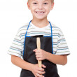 Boy with tools - Stock Photo