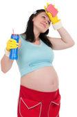 Gravida hemmafru — Stockfoto