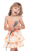 Child with microphone — Stock Photo