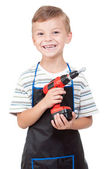 Boy with tools — Stock Photo