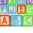 Stock Photo: abc alphabet blocks
