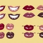 Glamorous glossy shining female lips — Stock Vector #5446824