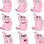Pink cute fun condoms smiles — Stock Vector #5482510