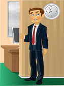 Time come to work — Stock Vector