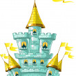 Royalty-Free Stock Vector Image: Magical fairytale blue castle with flags