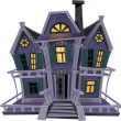 Royalty-Free Stock Vector Image: Haunted halloween witch house...