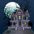 Royalty-Free Stock Vector Image: Halloween witch magic house