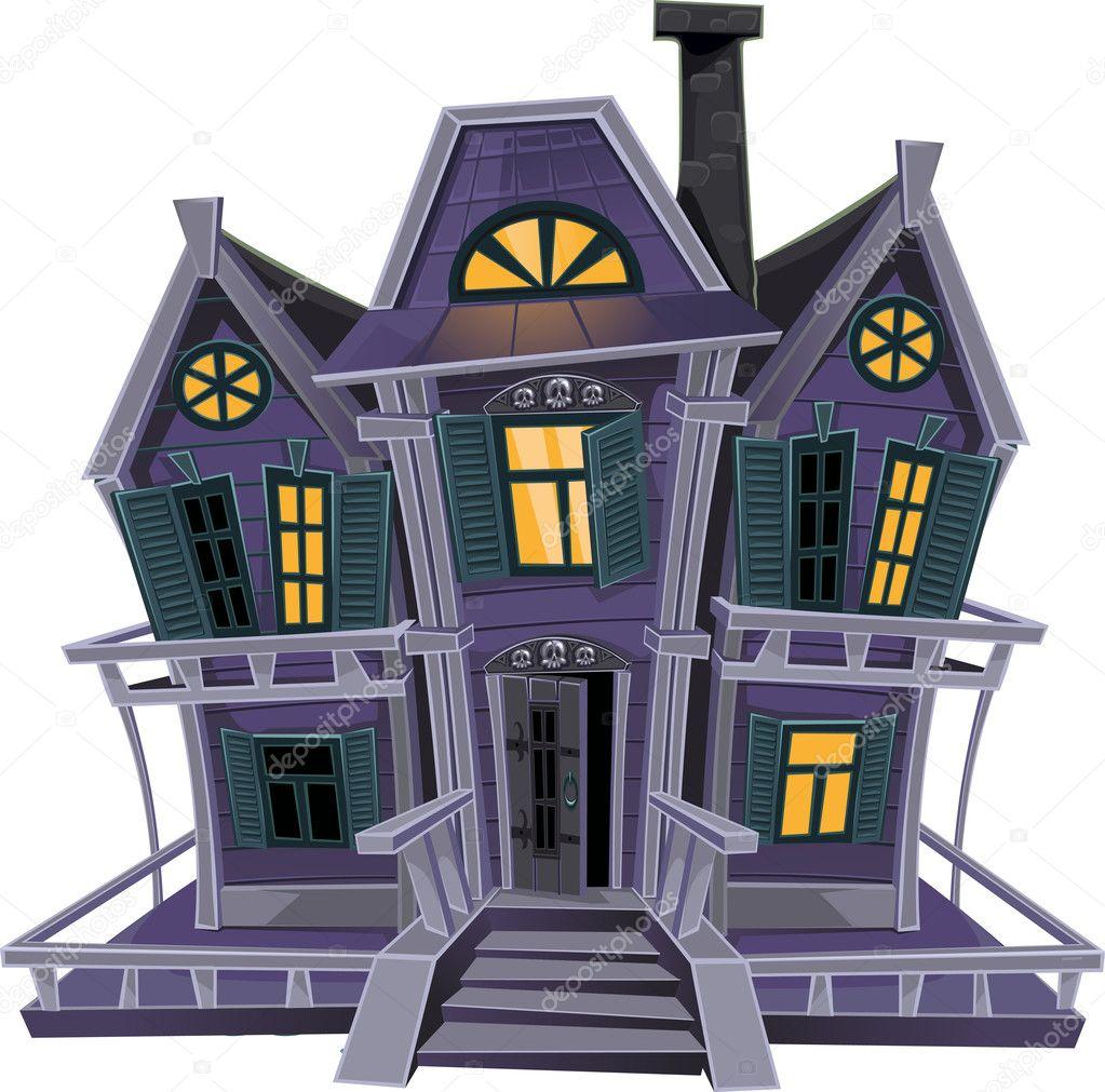 Haunted Halloween Witch House Stock Vector Yadviga