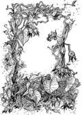 Decorative frame of bindweed — Stock Vector