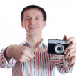 Man with the camera. — Stock Photo