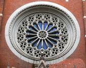 Janela na basílica de santo antônio de pádua — Foto Stock