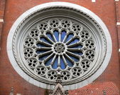 Okno w bazylice św — Zdjęcie stockowe