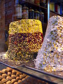 Traditional Turkish sweets in Istanbul shop. — Stock Photo