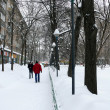 Stock Photo: Snowdrifts in streets after snowfall in Moscow
