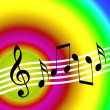 Colorful music background — Stock Photo