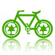 Green Bicycle — Stock Photo #5605443